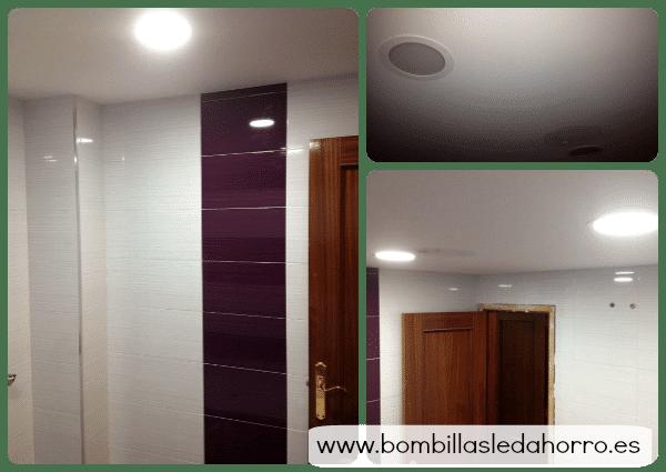 Iluminaci n para ba os instalar downlights led - Iluminacion banos pequenos ...