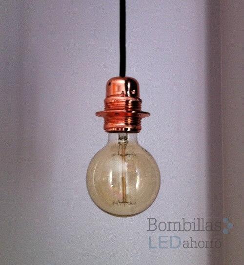 L mpara decorativa vintage e27 bombillas led ahorro - Casquillos para lamparas ...