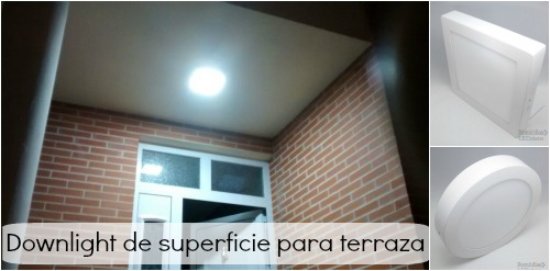 downlight superficie para terraza